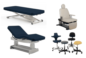 Oakworks Exam Tables and Chairs
